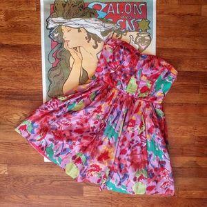 Anthropologie Aryn K strapless dress size L